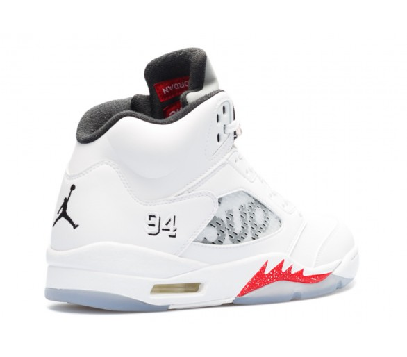 best authentic d557c 242da Air Jordan 5 Retro Supreme White