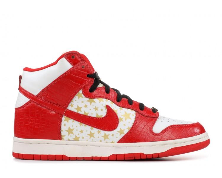 Nike SB Dunk High Pro Supreme Red Stars