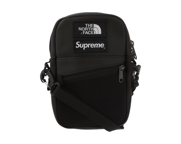 North Face Leather Shoulder Bag Black
