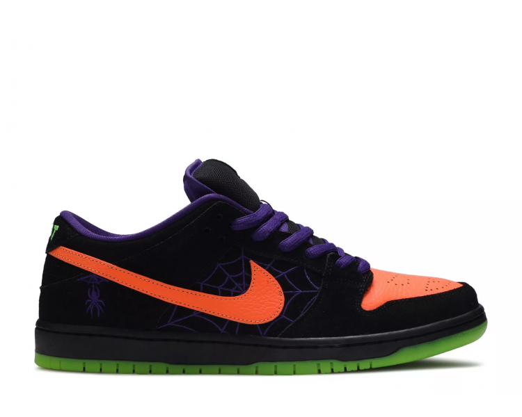 black and red nike dunks halloween